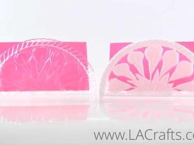 """7"""" Plastic Napkin Holder (Floral Design) from LACrafts.com"""