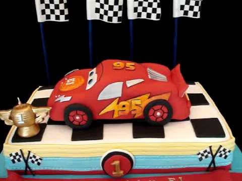 Cars Themed Fondant Cake- my third version