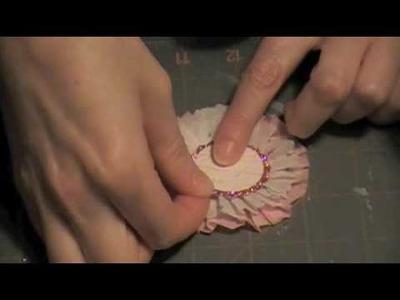 Crepe Paper Flower Rosette.m4v