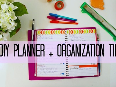 ✂ DIY Planner + Organization tips
