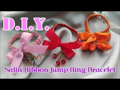 D.I.Y. ♥♥♥ Satin Ribbon Jump Ring Bracelet