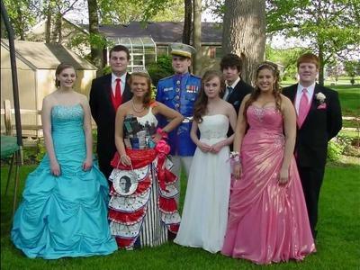 DUCK brand Duct Tape PROM dress(Elkhart,Indiana)Kayla Sawyer, David Thrash 2011