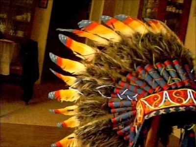 EL Wire Tribal Headdress - Real Neon Indian!