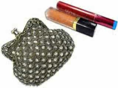 Exquisite Vintage Victorian Sequins Beaded Frame Clasp Coin Accessory Evening Bag Clutch