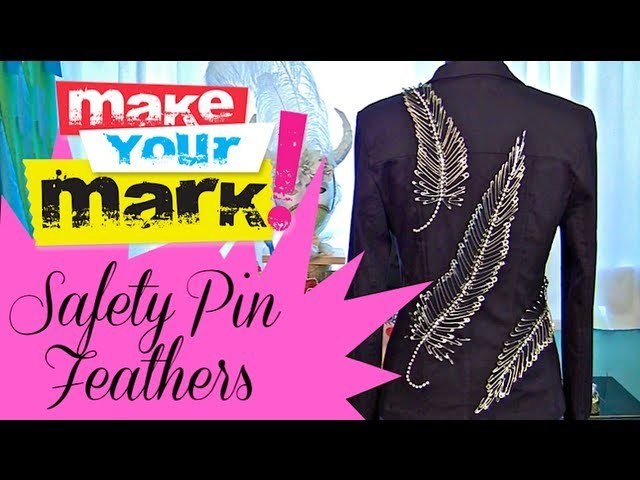 How to: Make Safety Pin Feathers