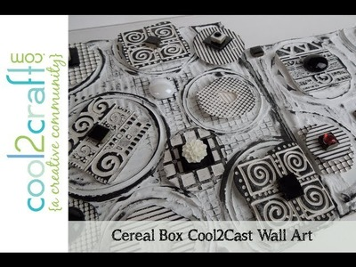 How to Transform Cereal Boxes into Cool2Cast Wall Art by EcoHeidi Borchers