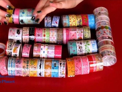 HUGE Washi Tape Haul. Kawaii Scrap Book Tapes - DIY Craft Art Supplies Craft Projects