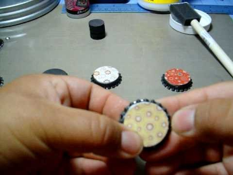 Making Bottle Cap Magnets