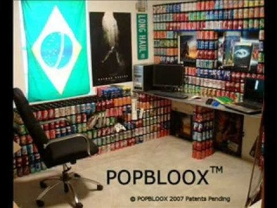 Popbloox Recycle Aluminum Cans and Build Projects