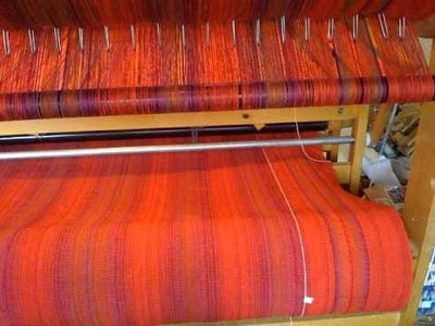 Production Weaving on an AVL Mechanical Dobby Loom
