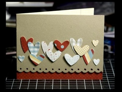 Punched Hearts - Make a Card Monday #57
