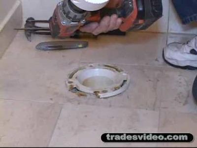 Replacing Broken PVC Toilet Flange Part One.flv