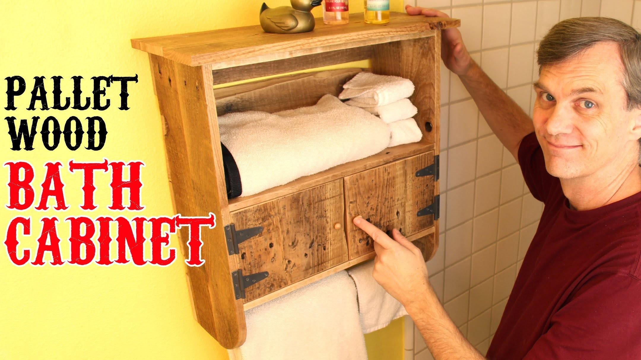 Rustic, pallet-wood bath cabinet. Unique charm for your bathroom.