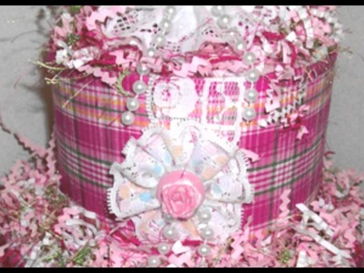 Scrapbook A Three Layer  Diaper Cake