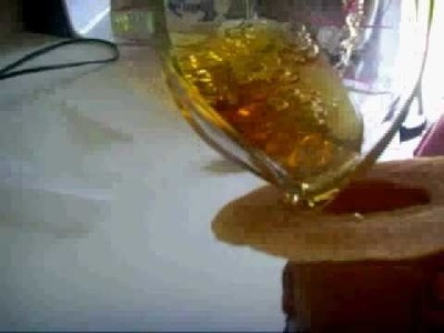 Sugar beer bottle and ice