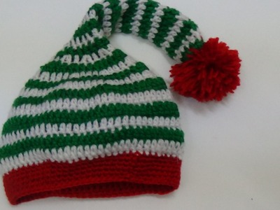 Very Easy Crochet Santa Hat-1