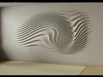 Wall relief decoration - interior design