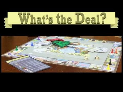 What's the Deal? Role Playing Board Game http:.ali.unt.edu
