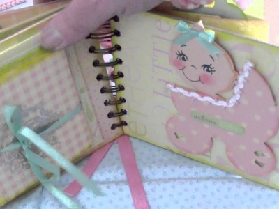 Baby Girl Mini Album, Diaper Bag, Bundle of Joy My Version