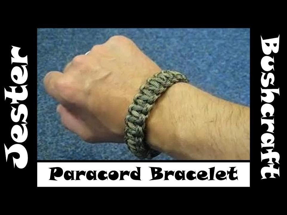 Bushcraft - How To Make A 550 Paracord Bracelet With Buckle