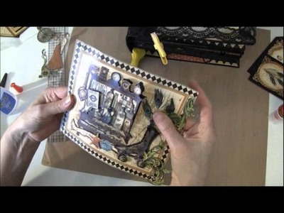 Final part on how to build a photo mini album with G45 Olde Curiosity Shoppe