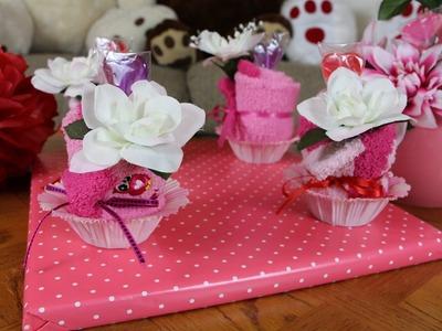 Fluffy Sock Cupcake Gift Idea