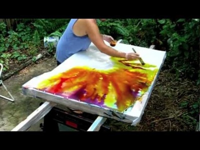 Hand-Painting a Sunset Color Guard Silk