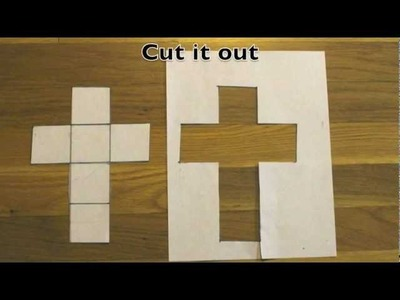 How to make a cube out of a sheet of paper