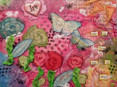 Mixed Media Altered Canvas