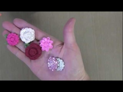 Molded Flowers and Buttons
