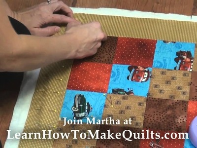 Quilt Making - Step 5 - Layer and Baste Layers Together