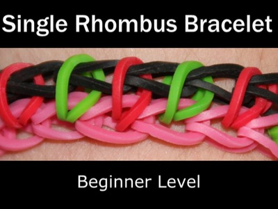 Rainbow Loom® Single Rhombus Bracelet