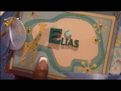Scrapbooking Baby Boy Mini Album for Elias