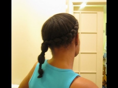 Sidebraid w. Banded Ponytail- Protective HairStyle