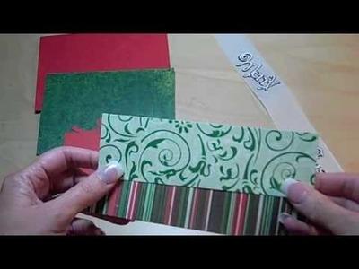 Simple Cricut Christmas Card