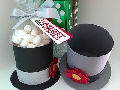 Simply Simple FROSTY the SNOWMAN HAT BOX by Connie Stewart