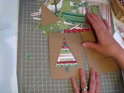 Super-fast patchwork Christmas card!