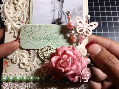 Women of Color Altered Tag Series ~Shabby Chic Tag~