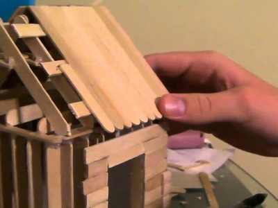 [5.6] How To Build a Popsicle Stick House - Roofing Part 2
