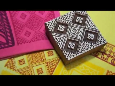 African art - fabric design with block printing