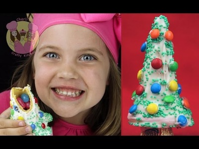 CHRISTMAS TREE PINATAS!  Make these yummy xmas trees with a treat inside for your candy bar