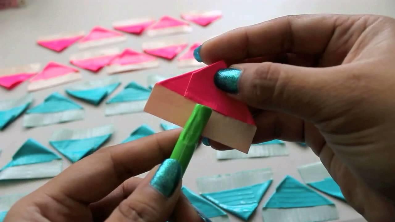 DIY Duct Tape Flower Pen