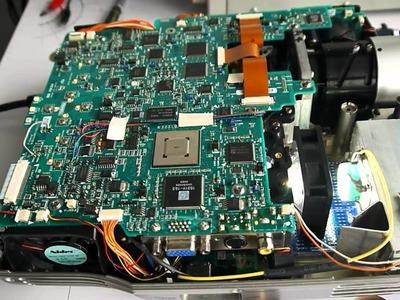 DIY XGA LED Projector 3xLCD lamp replacement 25 lumen 720p (part-2)