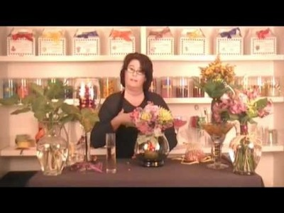 Fleur-ting with Fall Colors Part 3  Fish Bowl and Taper Candle Designs.wmv