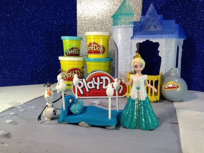 FROZEN PLAY-DOH Tutorial How to Make Queen Elsa Disney Frozen Bed