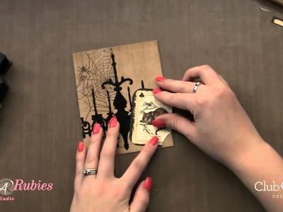 Halloween Cricut Card using Club Ruby Designers Kit