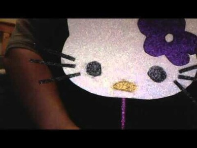 Hello Kitty home made candy bags.center pieces ideas