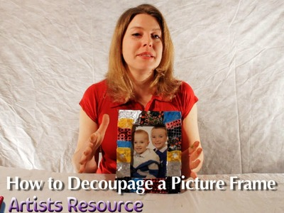 How to Decoupage a Picture Frame
