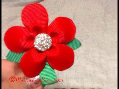 How to make a No sew ribbon flower
