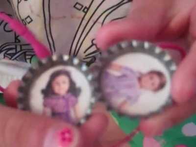 How to make  American Girl bottleCap necklaces